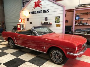 1965 Mustang Convertible Brilliant Pound is up Price Down