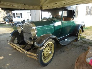 1928 Ford Model A Roadster Rumble Seat Go Green $13.9k For Sale