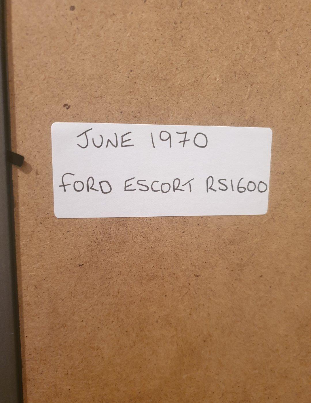 Original 1970 Escort RS1600 Framed Advert For Sale (picture 2 of 2)
