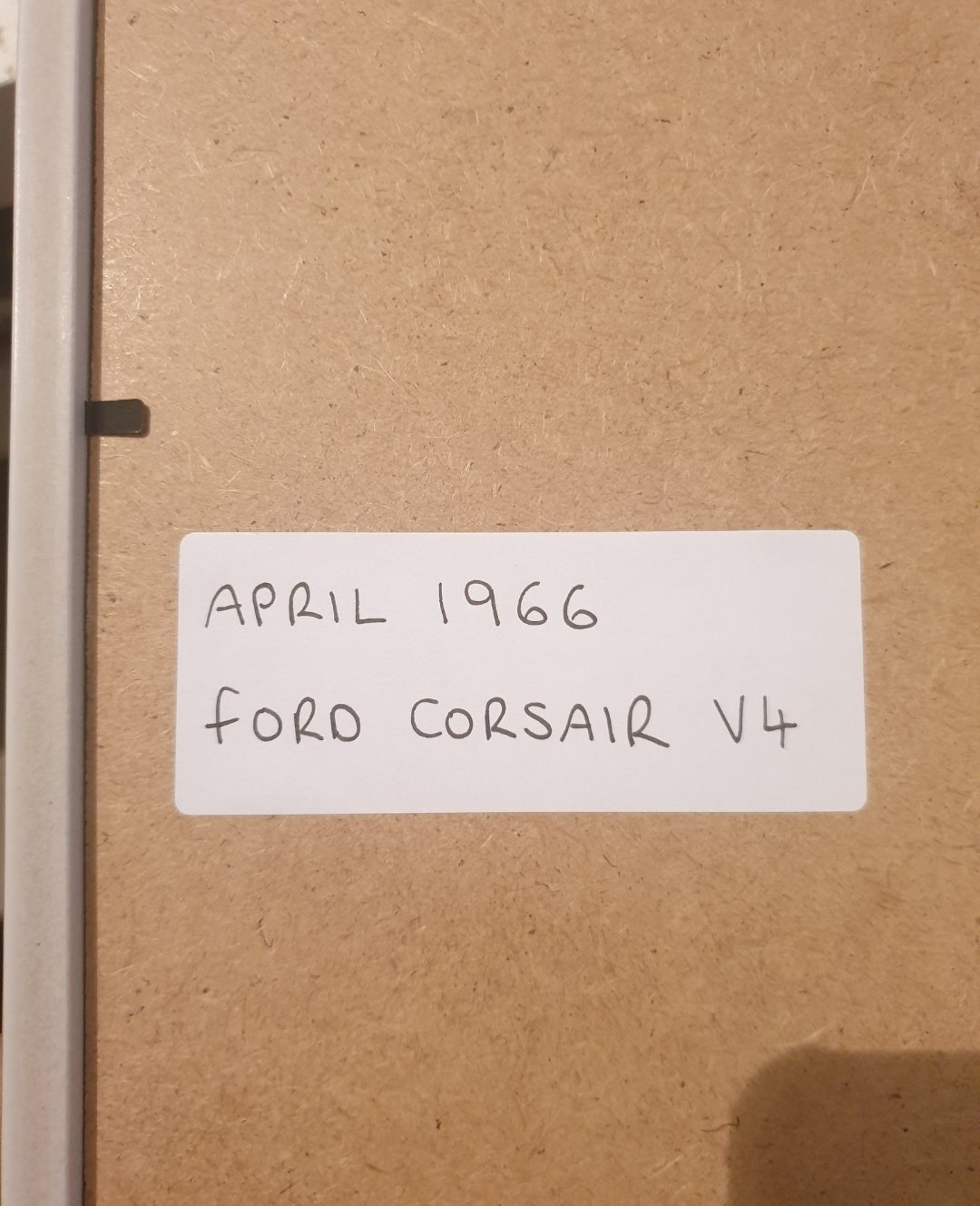 1966 Ford Corsair Framed Advert Original  For Sale (picture 2 of 2)