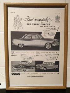 1956 Original Ford Advert