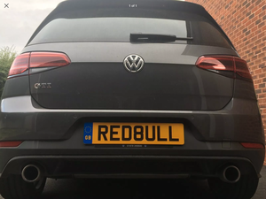 RED BULL Cherished Number Plate For Sale