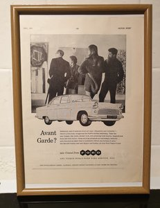 Original Ford Consul Framed Advert
