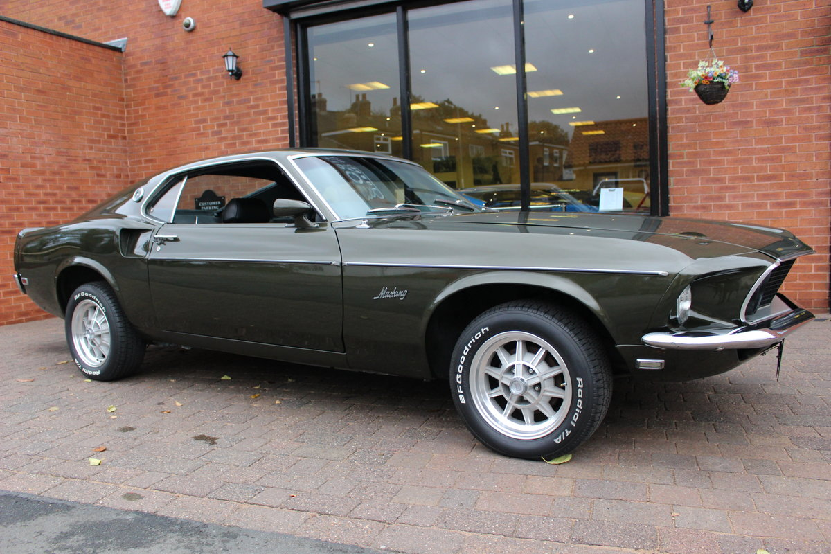 1969 Ford Mustang Fastback 3 Speed Manual   Rare Black Jade For Sale (picture 1 of 10)