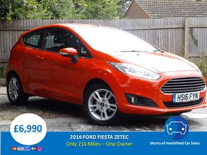 2016  Ford Fiesta Zetec 1.2 - 3 Door Hatchback - One Owner