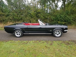 1965 Mustang Fastback Factory black with red interior V8 4sp