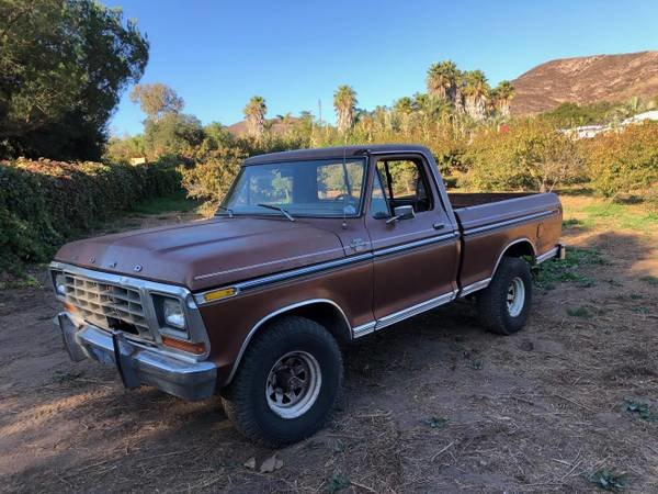 1978 Ford F150 Ranger XLT 4x4 Short Bed Pick-Up Truck $9.5k For Sale (picture 1 of 6)