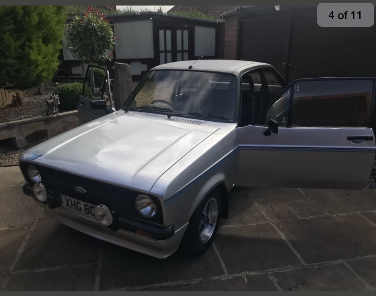 1980 Ford escort harrier 1600cc, strato silver For Sale (picture 2 of 6)