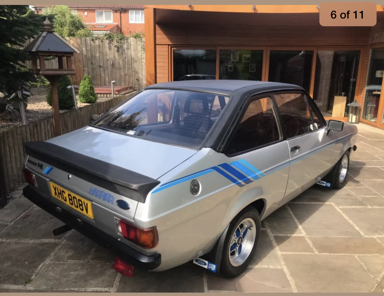 1980 Ford escort harrier 1600cc, strato silver For Sale (picture 3 of 6)