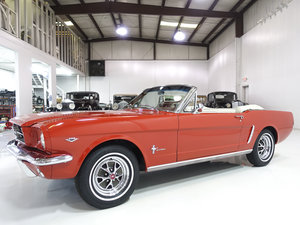 Rangoon Red 1965 Ford Mustang Convertible For Sale