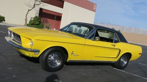 1968 Mustang Coupe C Code 289 AT PS Discs Cali Car $13.9k For Sale