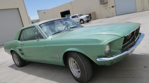 1967 Mustang Coupe 289 Coupe C code 289 AT Jade PS $11.5k For Sale