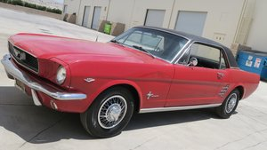 1966 Ford Mustang Coupe 289 Auto Solid Red Driver $11.5k For Sale