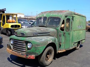 1948 Ford F3 Coach Built Step Side Panel Van For Sale