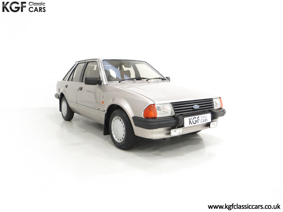 1984 A Fully Loaded Mk3 Ford Escort 1.6 Ghia with 11,887 Miles SOLD (picture 1 of 6)