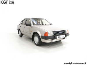 1984 A Fully Loaded Mk3 Ford Escort 1.6 Ghia with 11,887 Miles SOLD