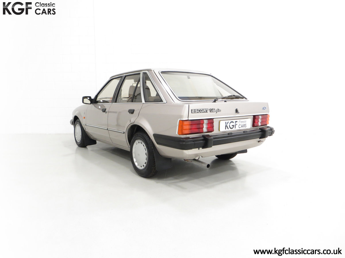 1984 A Fully Loaded Mk3 Ford Escort 1.6 Ghia with 11,887 Miles SOLD (picture 4 of 6)