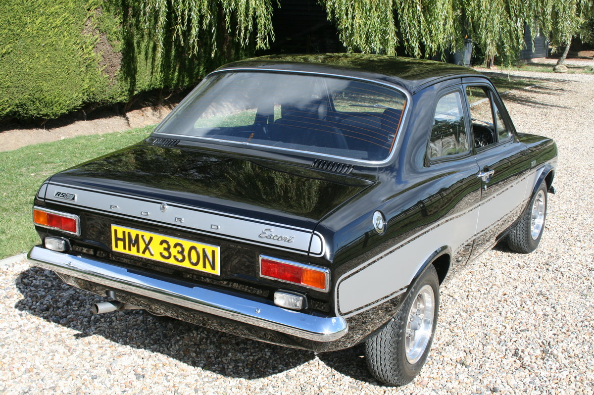 1975 Ford Escort RS 2000 MK1.Stunning Car Rare Factory Black. For Sale (picture 2 of 6)