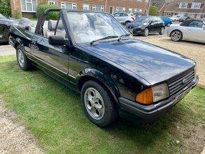 1984 Rare Mk3 Ford Escort 1.6 Cabriolet long mot For Sale