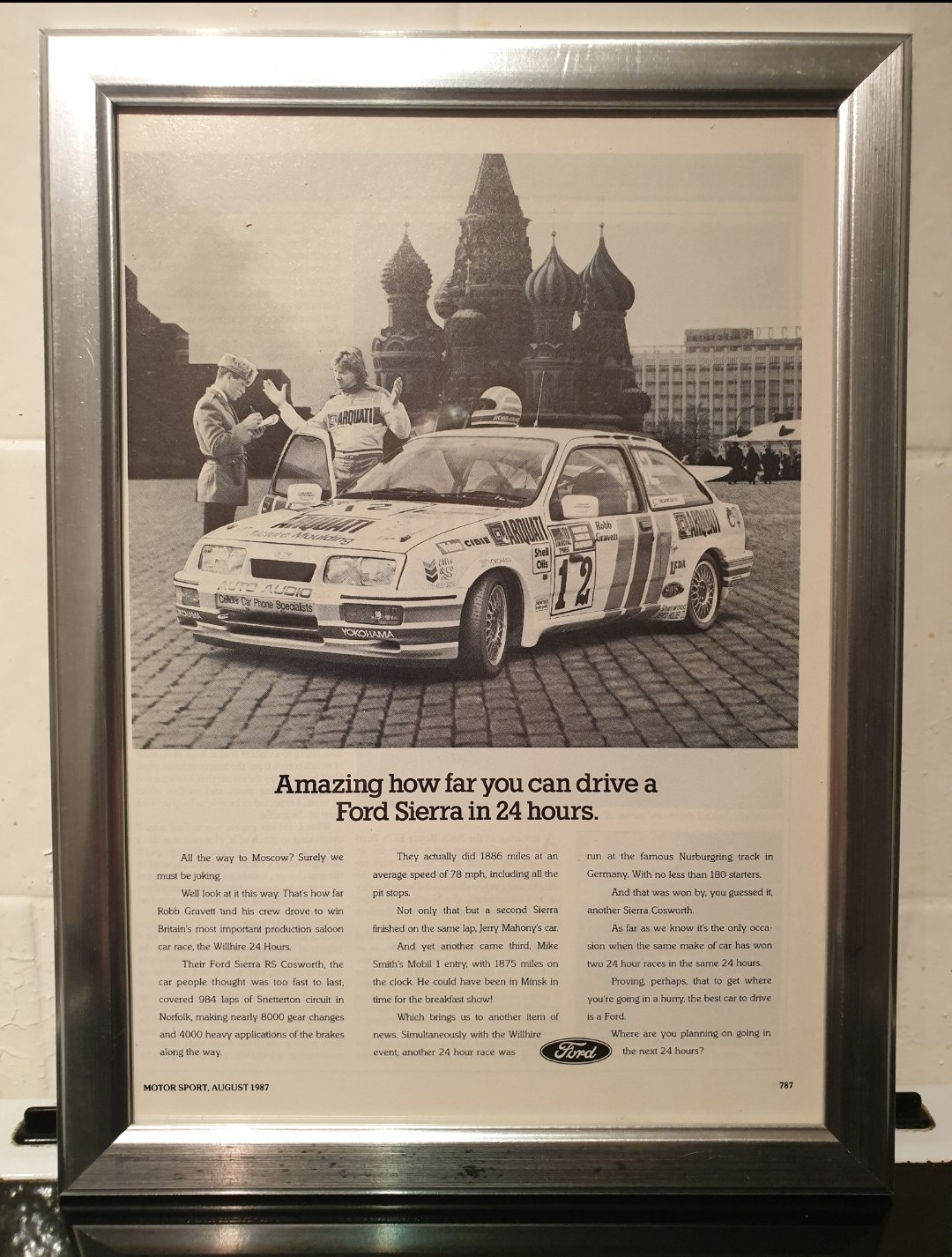 1987 Sierra RS Cosworth Framed Advert Original  SOLD (picture 1 of 2)