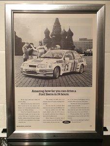 Sierra RS Cosworth Framed Advert Original