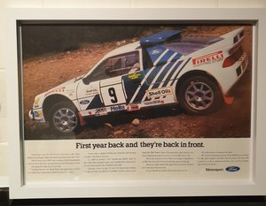 Original Ford RS200 Framed Advert