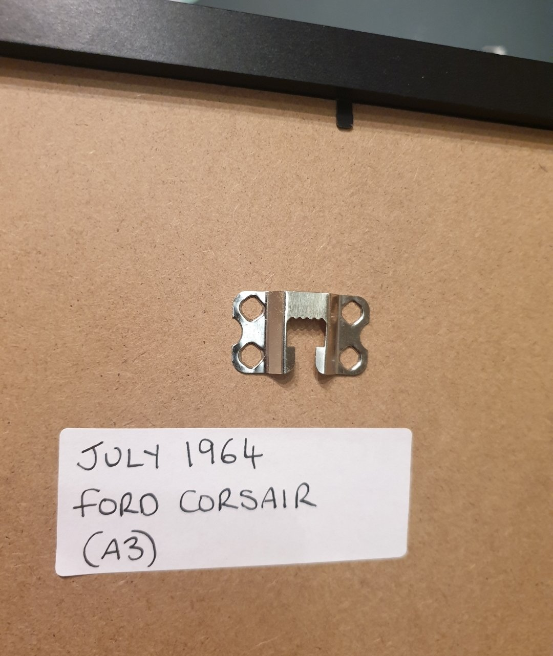 1964 Ford Corsair Framed Advert Original  For Sale (picture 2 of 2)