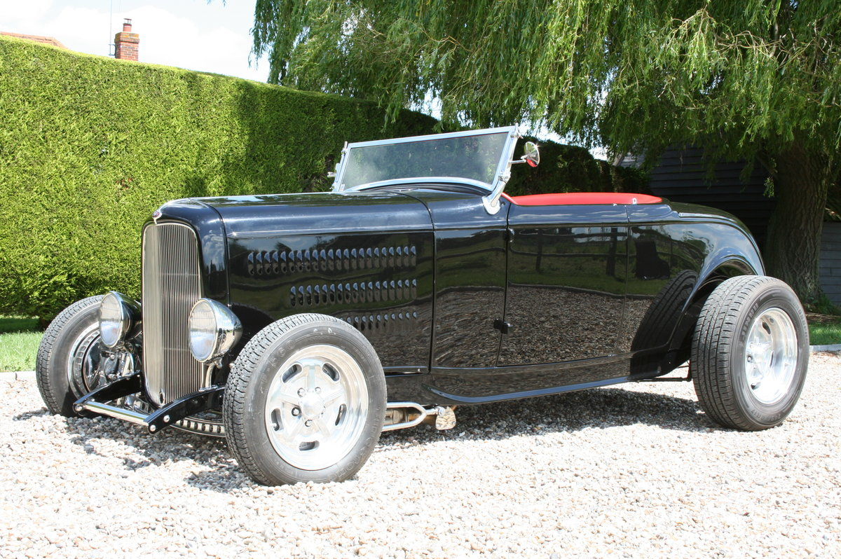 1932 Ford Model B Highboy Roadster V8 Hot Rod,All Steel Body For Sale (picture 1 of 6)