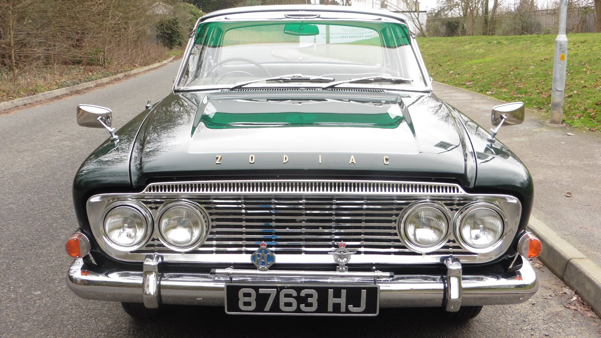 1963 Ford Zodiac MK3  Goodwood Green Just 49000 Miles Exceptional SOLD (picture 2 of 6)