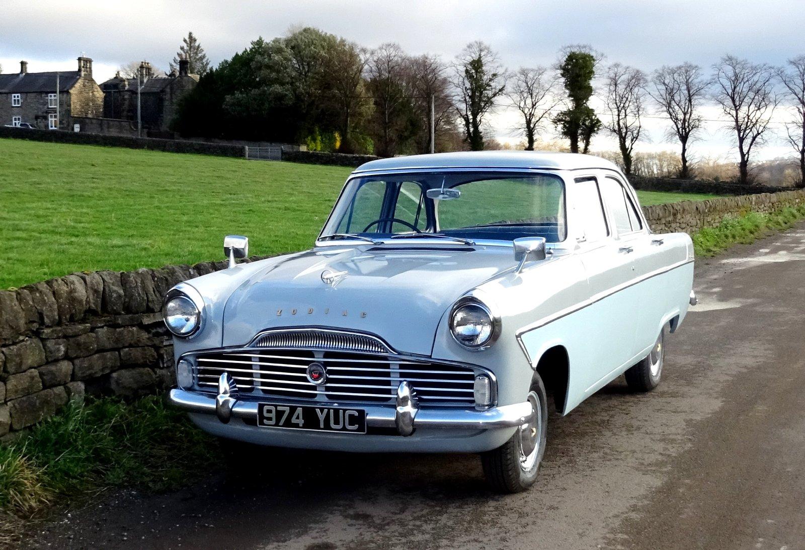 1960 FORD ZODIAC MK2 LOWLINE ORIGINAL TWO TONE COLOUR SCHEME For Sale (picture 2 of 6)