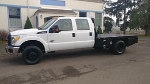 2015 Ford F350SD Crew Cab 4WD DRW dual wheel drive Flatbed  For Sale