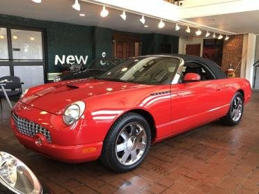 2002 Ford ThunderBird Convertible 2 Tops 37k miles Red $17.9 For Sale