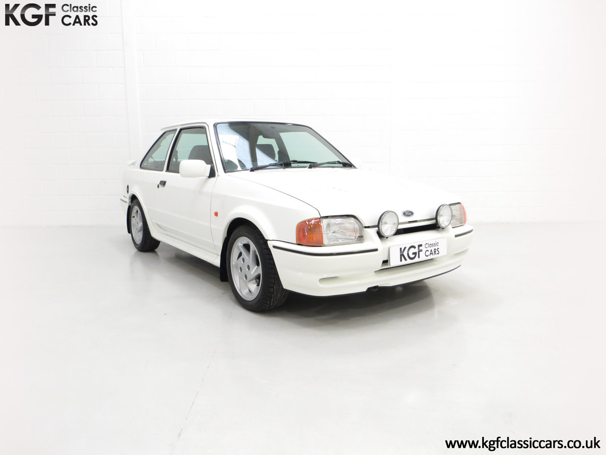 1990 A Stunning 90 Spec Ford Escort RS Turbo with 43,996 Miles For Sale (picture 1 of 6)