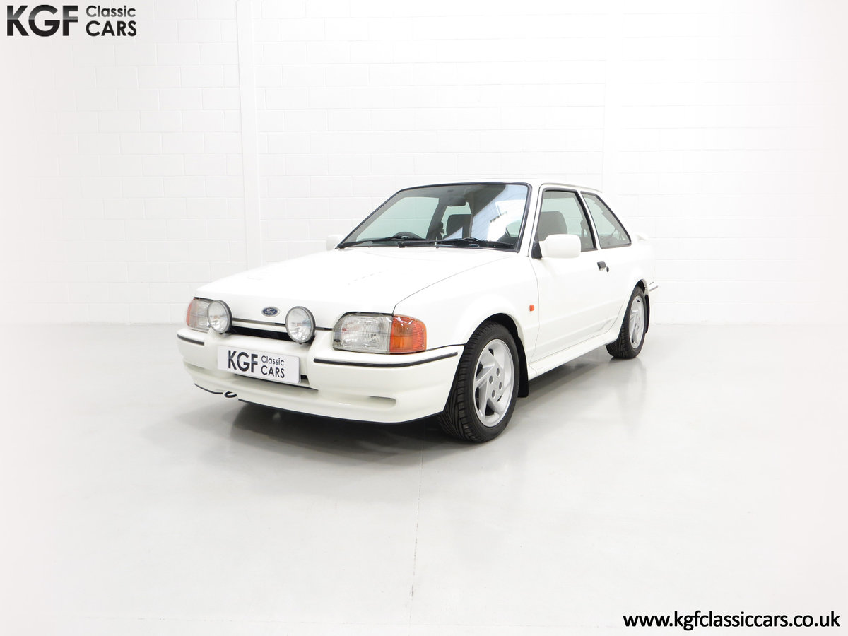 1990 A Stunning 90 Spec Ford Escort RS Turbo with 43,996 Miles For Sale (picture 2 of 6)