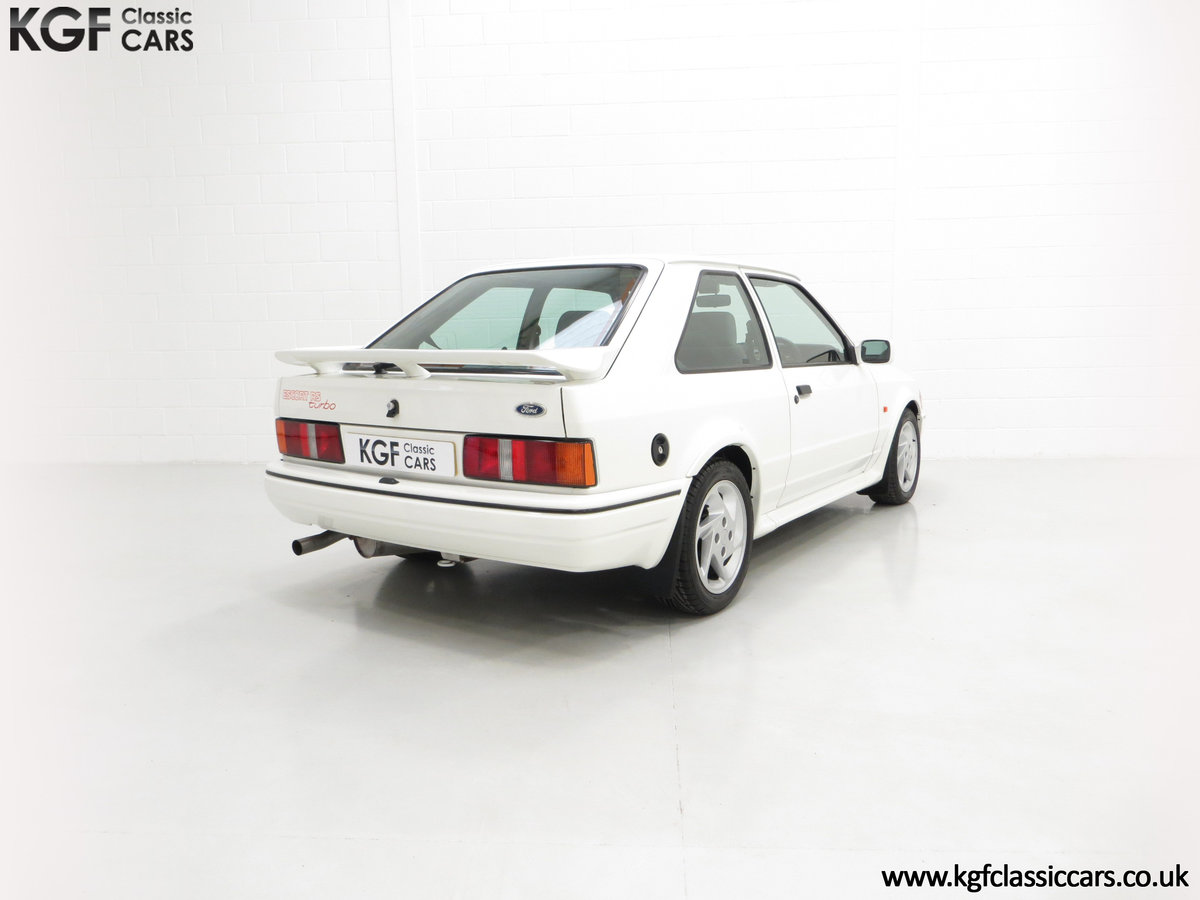 1990 A Stunning 90 Spec Ford Escort RS Turbo with 43,996 Miles For Sale (picture 5 of 6)