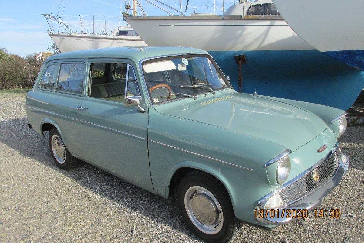 1964 Ford Anglia Estate De Lux. For Sale (picture 1 of 6)