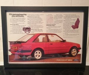 Ford Escort XR3 Framed Advert Original