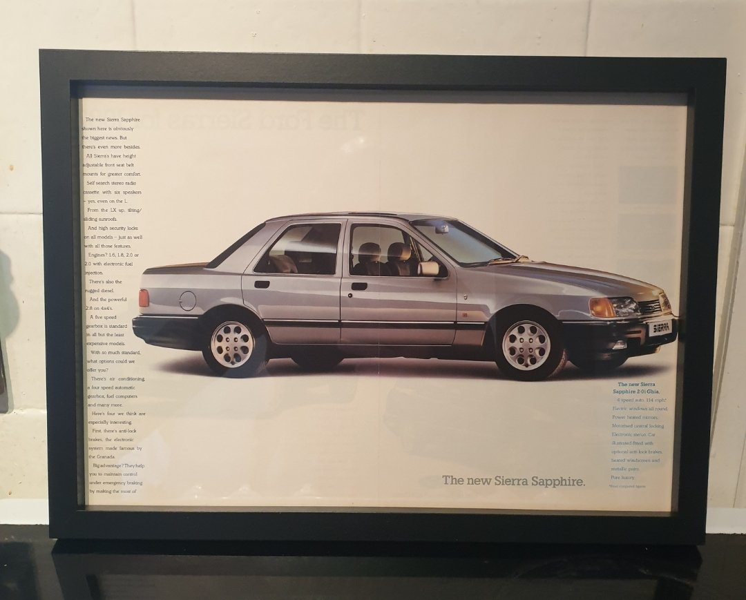 1987 Ford Sierra Sapphire Advert Original  For Sale (picture 1 of 3)