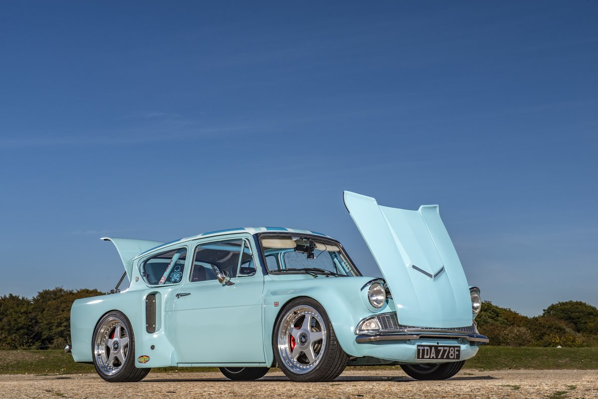 1968 Ford Anglia 105E V8, bespoke one off hot rod For Sale (picture 1 of 6)