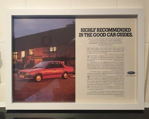 1985 Ford Orion Framed Advert Original