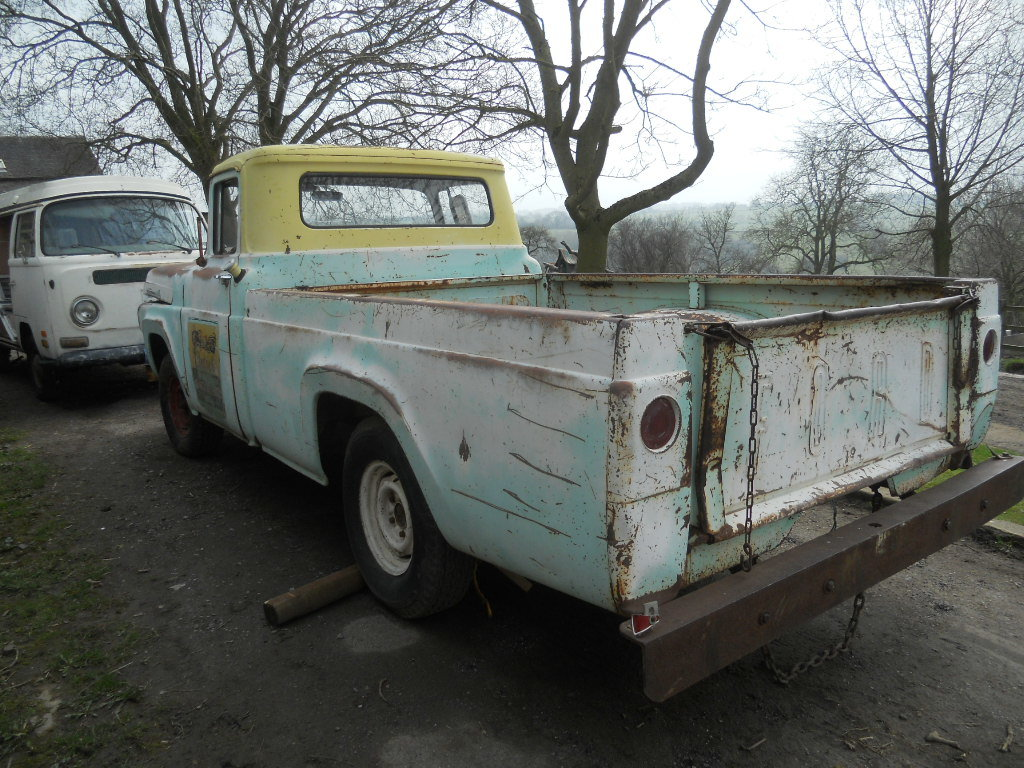 1958 Ford F100 pickup US Import classic pickup hot rod with  SOLD (picture 5 of 6)