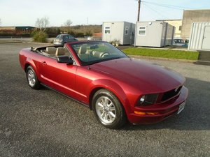 2007 FORD MUSTANG 4.0 V6 5 SPD CONVERTIBLE MET RED SOLD