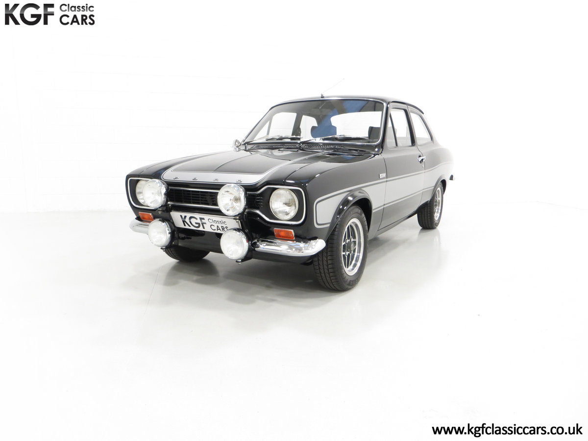 1974 A Rare Matching Numbers Factory Black Mk1 Ford Escort RS2000 SOLD (picture 2 of 6)