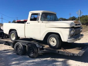 1959 Ford F100 Short Wheel Base Pickup Truck Manual V-8 Pr For Sale