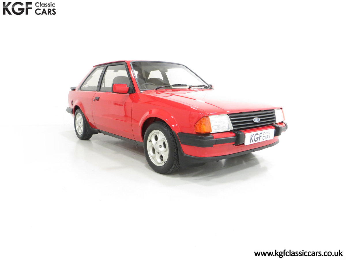 1985 An award-winning late Ford Escort Mk3 XR3i in rare Rosso Red SOLD (picture 1 of 6)