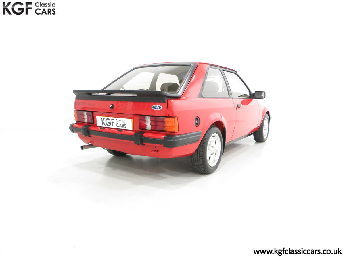 1985 An award-winning late Ford Escort Mk3 XR3i in rare Rosso Red SOLD (picture 5 of 6)