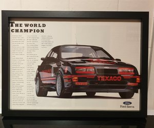 1988 Sierra RS Cosworth Framed Advert Original