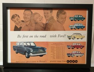 Ford Framed Advert Original