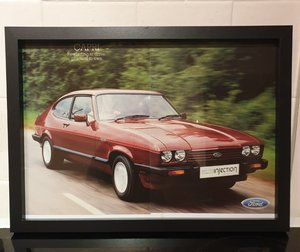 Capri 2.8i Framed Advert Original