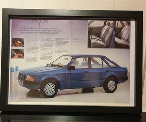 Original Ford Escort L Framed Advert